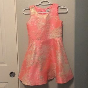 Kids pink white and gold dress.